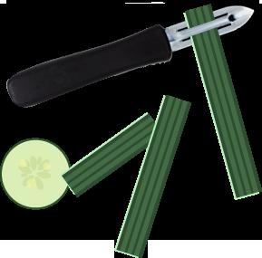 épluchures de concombre